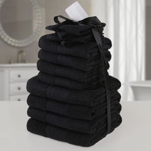 12pc Towel Bale - Black