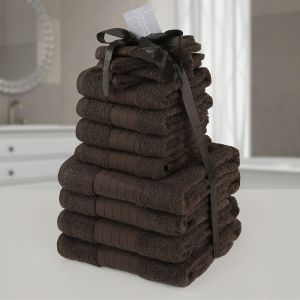 12pc Towel Bale - Chocolate