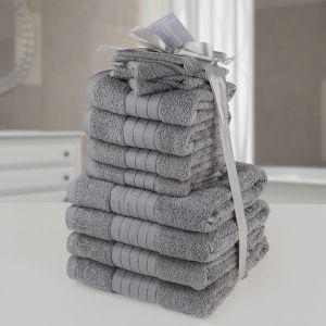 Brentfords Towel Bale 12 Piece - Grey