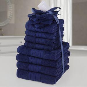 12pc Towel Bale - Navy