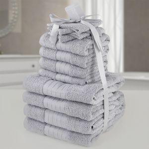 12pc Towel Bale - Silver