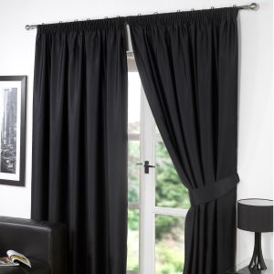 Oxford Thermal Blackout Curtains - Black