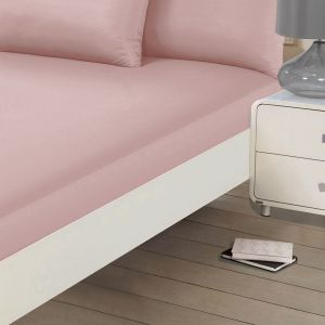 Plain Dyed Fitted Sheet - Blush Pink