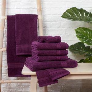 Brentfords Towel Bale 10 Piece - Purple