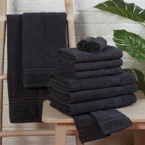 Brentfords Towel Bale 12 Piece - Charcoal
