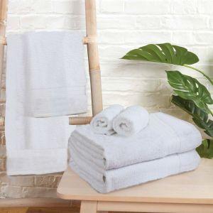 6pc 500gsm Towel Bale - White