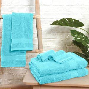 6pc 500gsm Towel Bale - Aqua