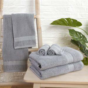 6pc 500gsm Towel Bale - Silver
