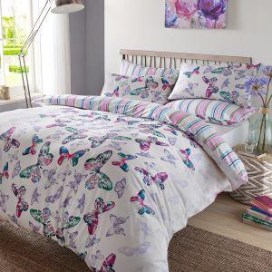 Watercolour Butterfly Duvet Set
