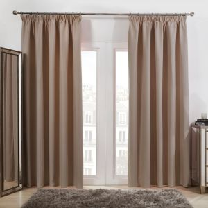 Oxford Thermal Blackout Curtains - Beige
