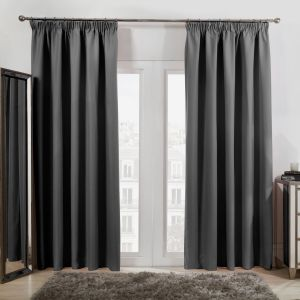 Oxford Thermal Blackout Curtains - Charcoal