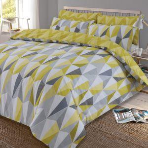 Kite Geometric Duvet Set - Yellow