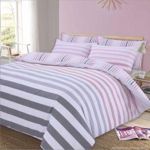 Doppler Stripe Duvet Set - Pink
