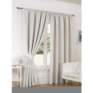 Faux Silk Blackout Curtains - Natural