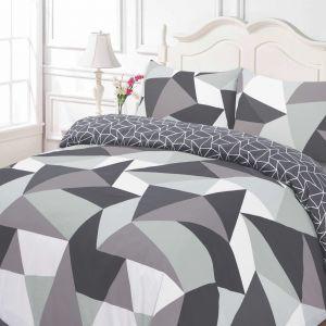 Geometric Black Duvet Set