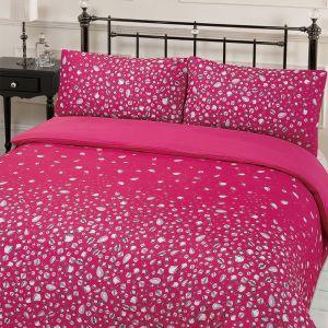 Diamond Print Pink Duvet Set