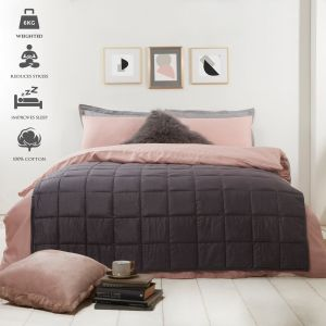 Highams Weighted Blanket Quilted Grey, 125 x 180 cm - 6kg