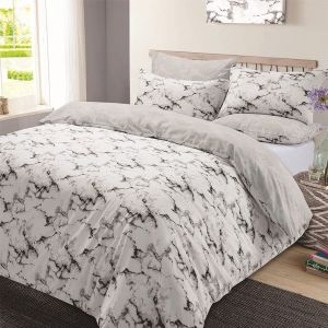 Grey Marble Bedding Set