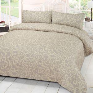 Damask Bedding Set Cream