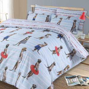 Kids Meerkat Bedding Set - Blue