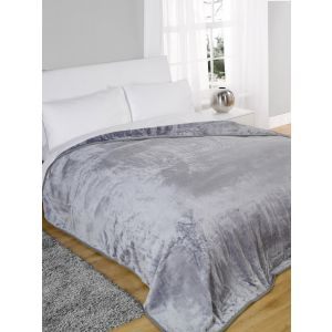 Arctic Mink Throw Silver