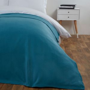 Dover Plain Fleece Throw Teal