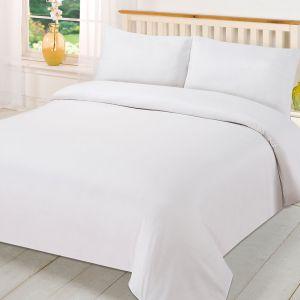 Plain Dye Duvet Set - White