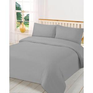 Plain Dye Duvet Set - Grey