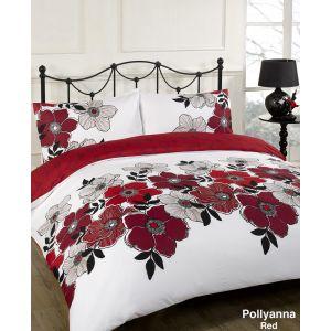 Red Floral Bedding Set