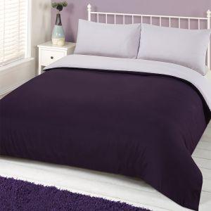 Brentfords Plain Duvet Cover Set - Purple Lilac