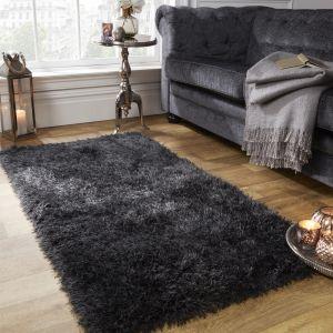 Large Shaggy Soft Floor Rug - Charcoal
