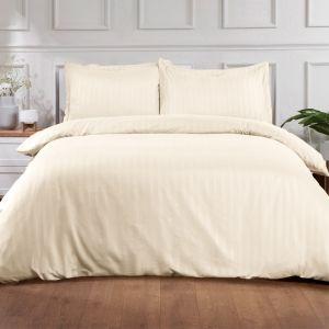 Hotel Stripe Duvet Set - Cream