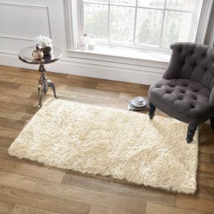 Large Shaggy Soft Floor Rug - Cream