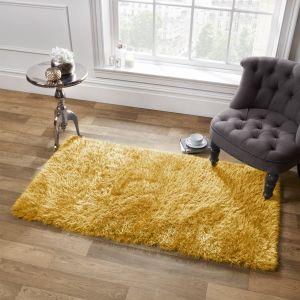 Large Shaggy Soft Floor Rug - Yellow