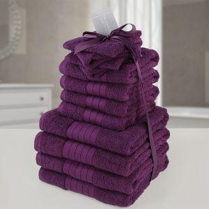 12pc Towel Bale - Aubergine