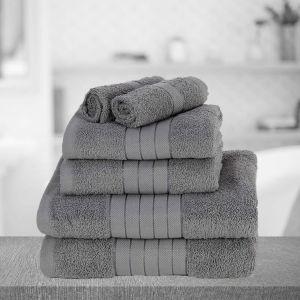 Brentfords Towel Bale 6 Piece - Grey