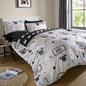 Walkies Pug Dog Bedding Set