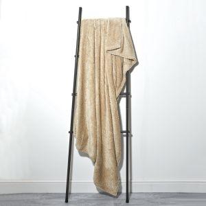 Textured Knit Throw - Mink