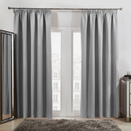 Oxford Thermal Blackout Curtains - Silver