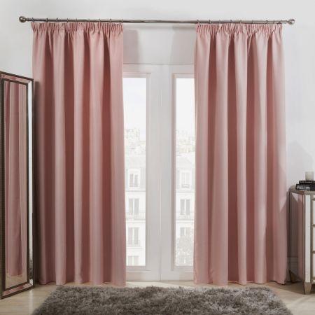Oxford Thermal Blackout Curtains - Blush Pink
